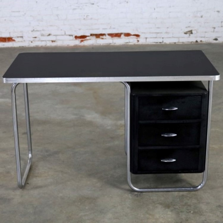 Art Deco Machine Age Streamline Moderne Table Or Desk By Royal Metal  Manufacturing