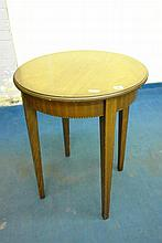 EDWARDIAN MAHOGANY CENTRE TABLE WITH LOZENGE