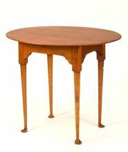 Eldred Wheeler Queen Anne Style Maple Tea Table