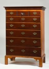 Eldred Wheeler Tall Chest in Tiger Maple