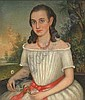 early 19th Century portrait painting, Charles Gruppe, Click for value