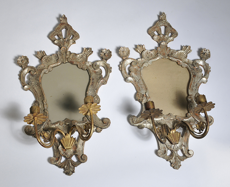 Italian Style Wall Sconces : Pair of Italian Rococco style wall sconces