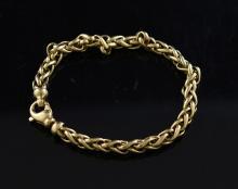 18k man's heavy linked bracelet
