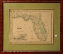 19th C. Johnsons Map of Florida