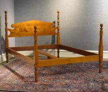 Eldred Wheeler tiger maple Queen size bed
