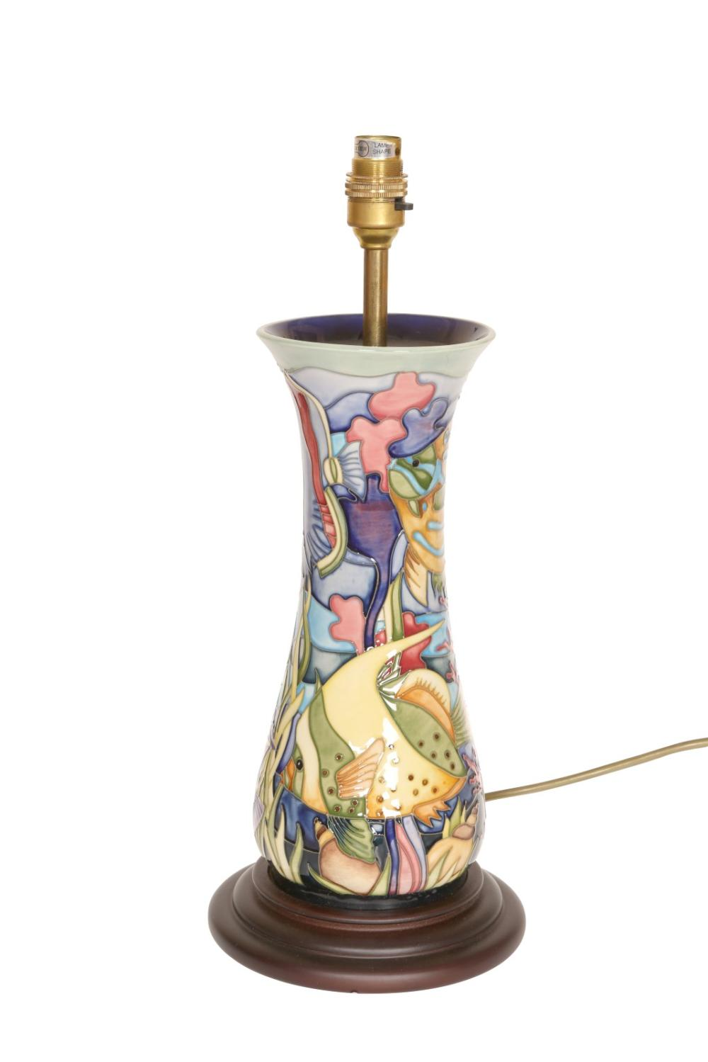 A moorcroft table lamp in the martinique pattern by jeanne a moorcroft table lamp in the martinique pattern by jeanne mcdougall firs aloadofball Choice Image
