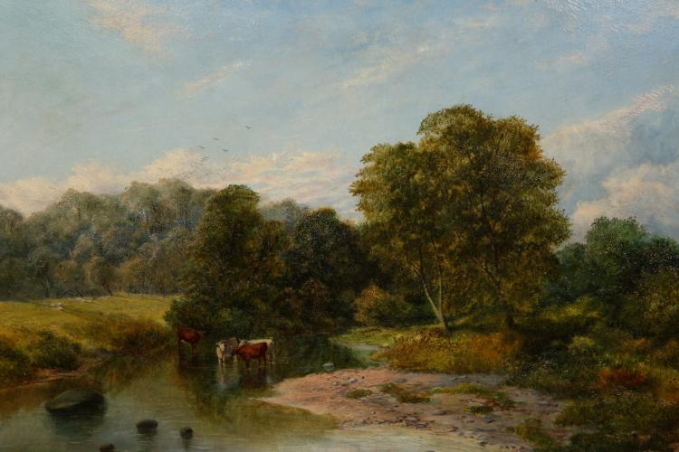 WILLIAM WEIR, EVENING ON THE DERWENT, unsigned, inscribed verso and dated 1