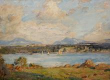HERBERT ROYLE (1870-1958), THE MENAI STRAITS, signed, inscribed with title