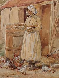 James Edgar Mitchell (1871-1922), Feeding time,