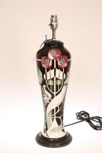 A MOORCROFT ''TALWIN'' TABLE LAMP, first quality. Overall 51cm