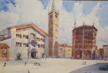ALDO RAIMONDI (ITALIAN, 1902-1998), PIAZZA, signed and dated 1931 lower rig