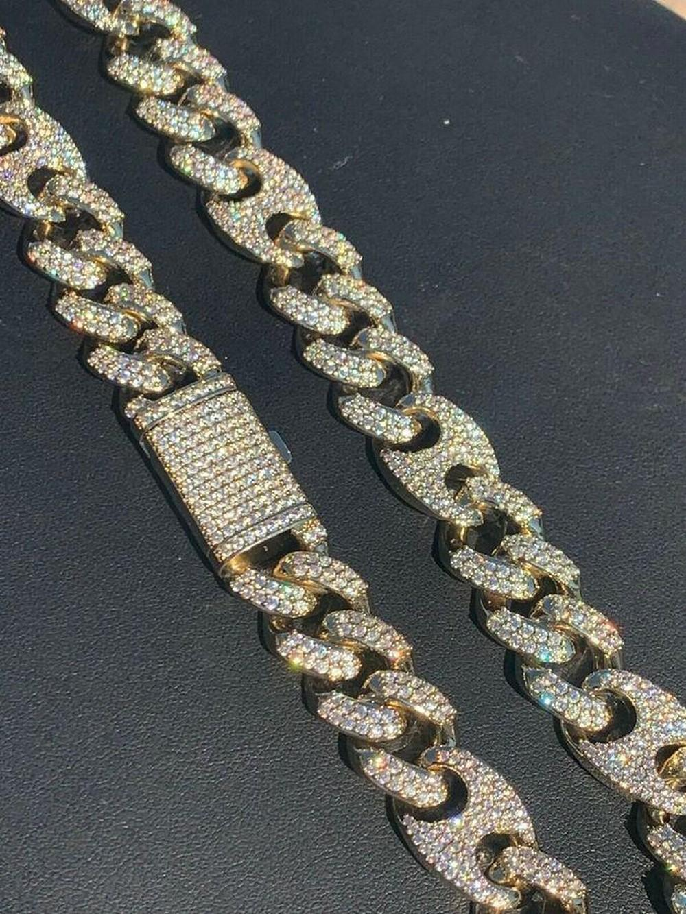 Unisex Cuban Link Chain ICY Stainless Hip Hop Figarucci Choker