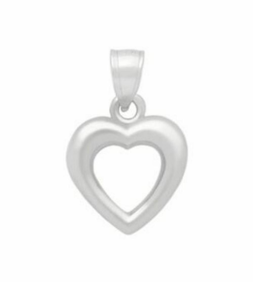 Stunning 925 Sterling Silver Hollow Heart Pendant