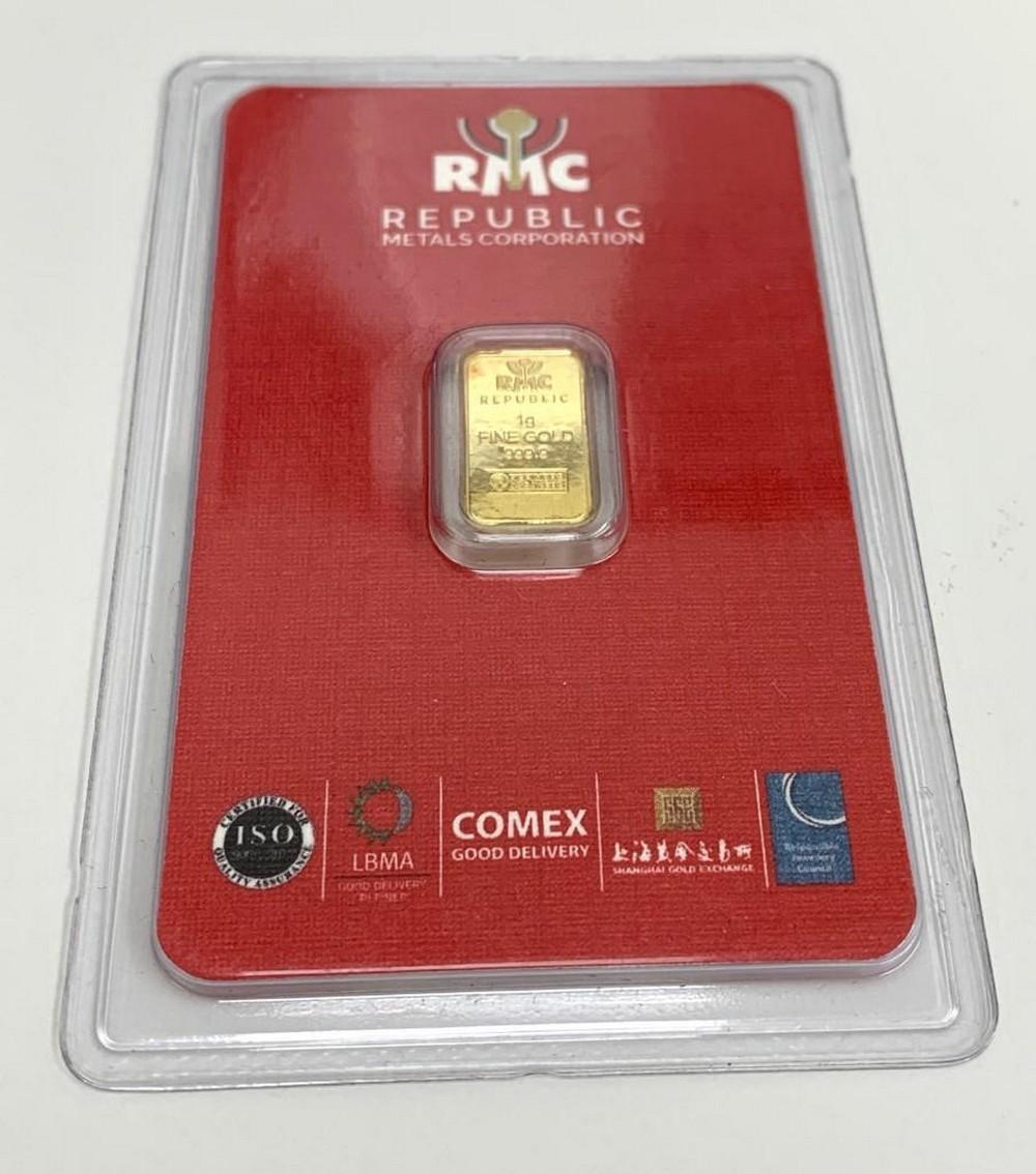 RMC Republic Metals Corporation 1g of Fine Gold