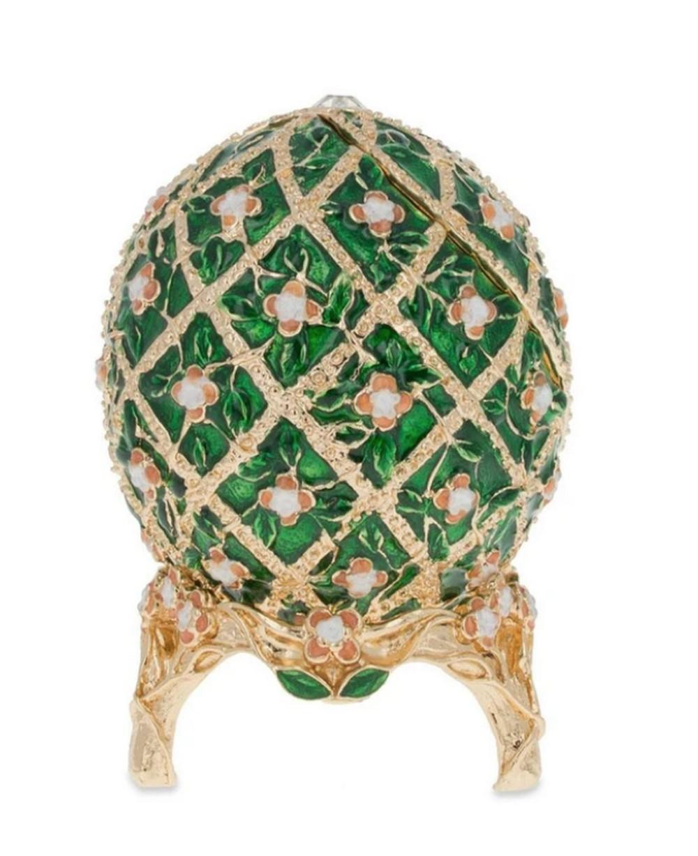 1907 Royal Rose Trellis Russian Inspired Egg