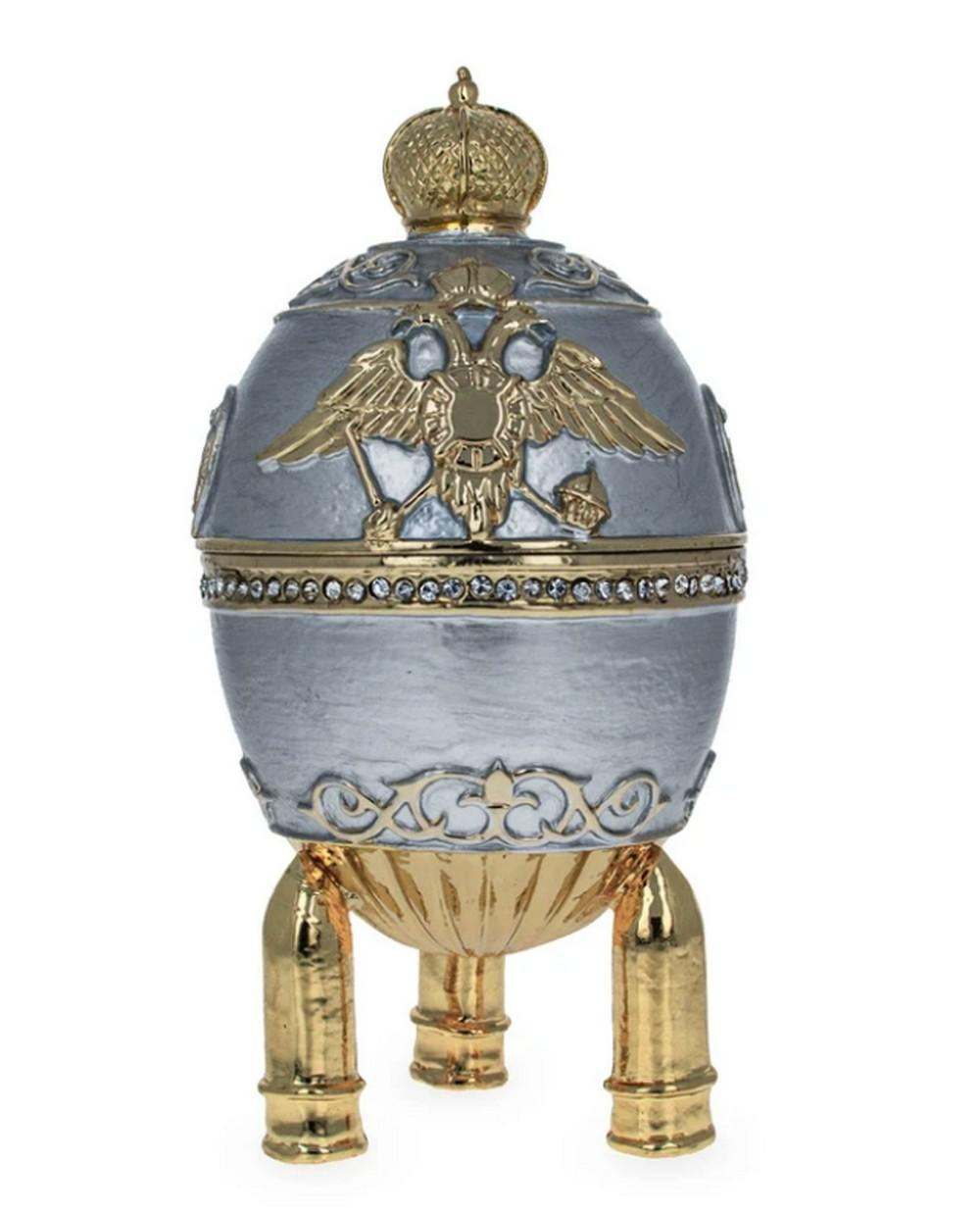 1916 Royal Russian Steel Military Inspired Egg