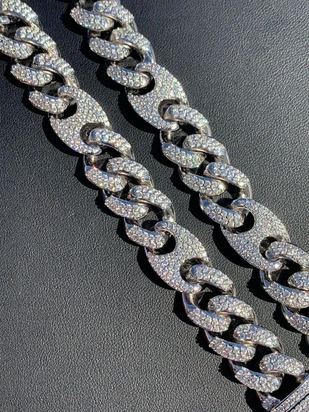 """Men's 20"""" Miami Cuban Link Chain Diamond Real Figarucci"""