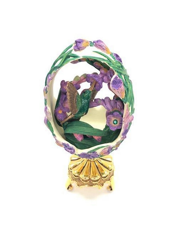 Franklin Mint In The Garden Hummingbird Faberge Egg