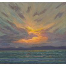 "Norman R. Brown Original Oil On Panel ""Lake Superior Cloud"""