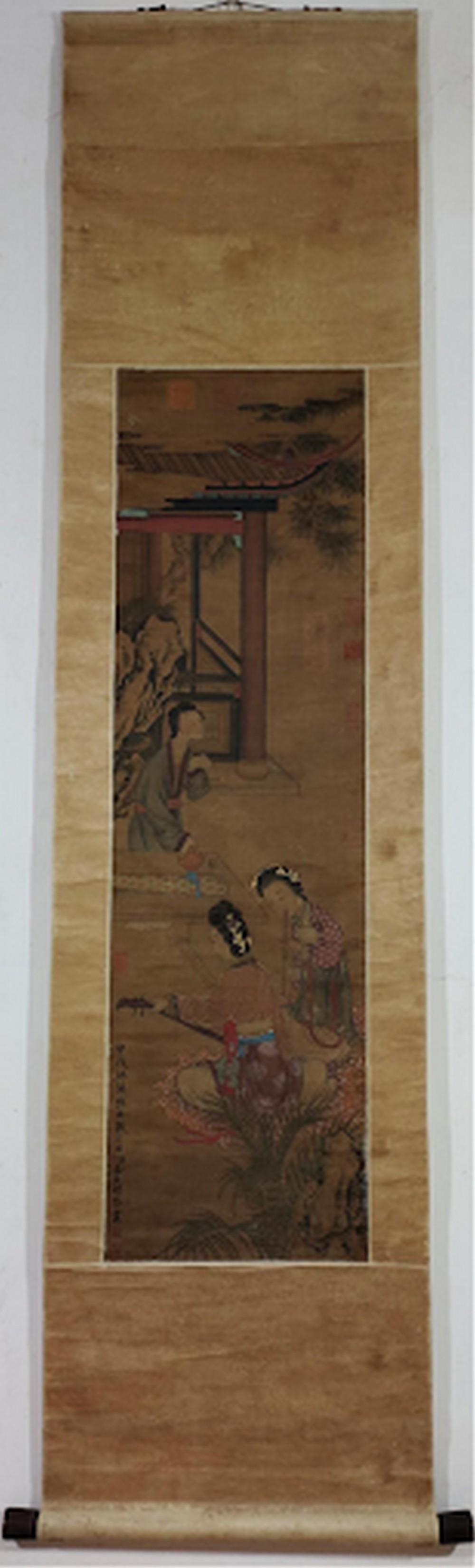 Lady Silk Scroll by Jin Yanbiao