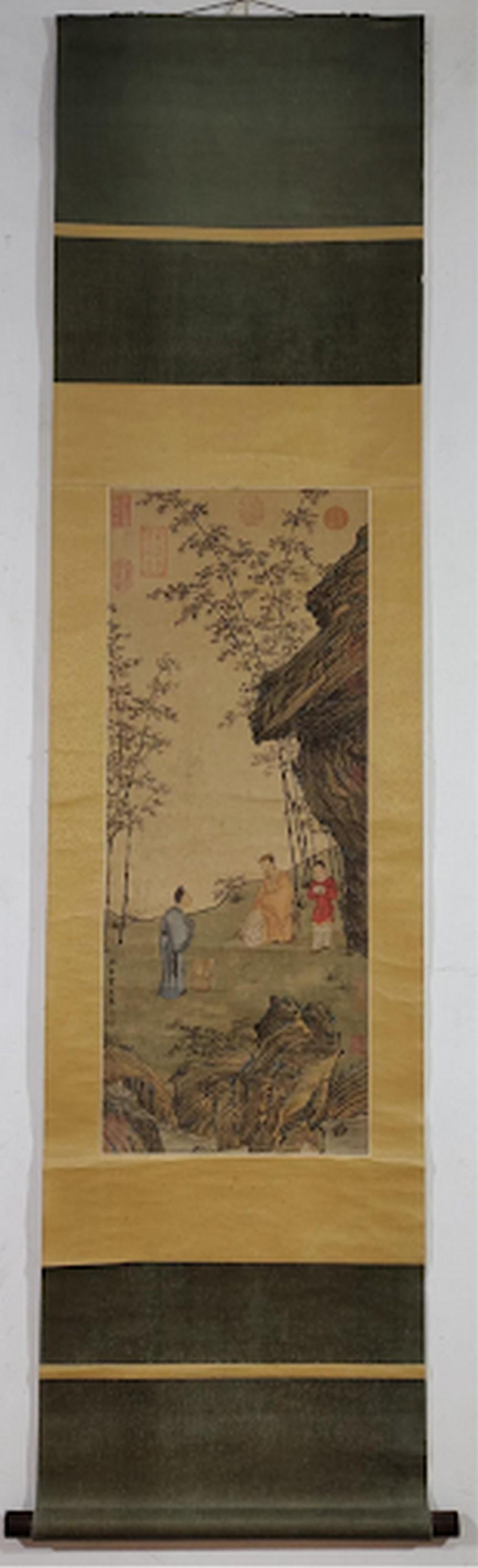 Party Silk Scroll by Qiu Ying