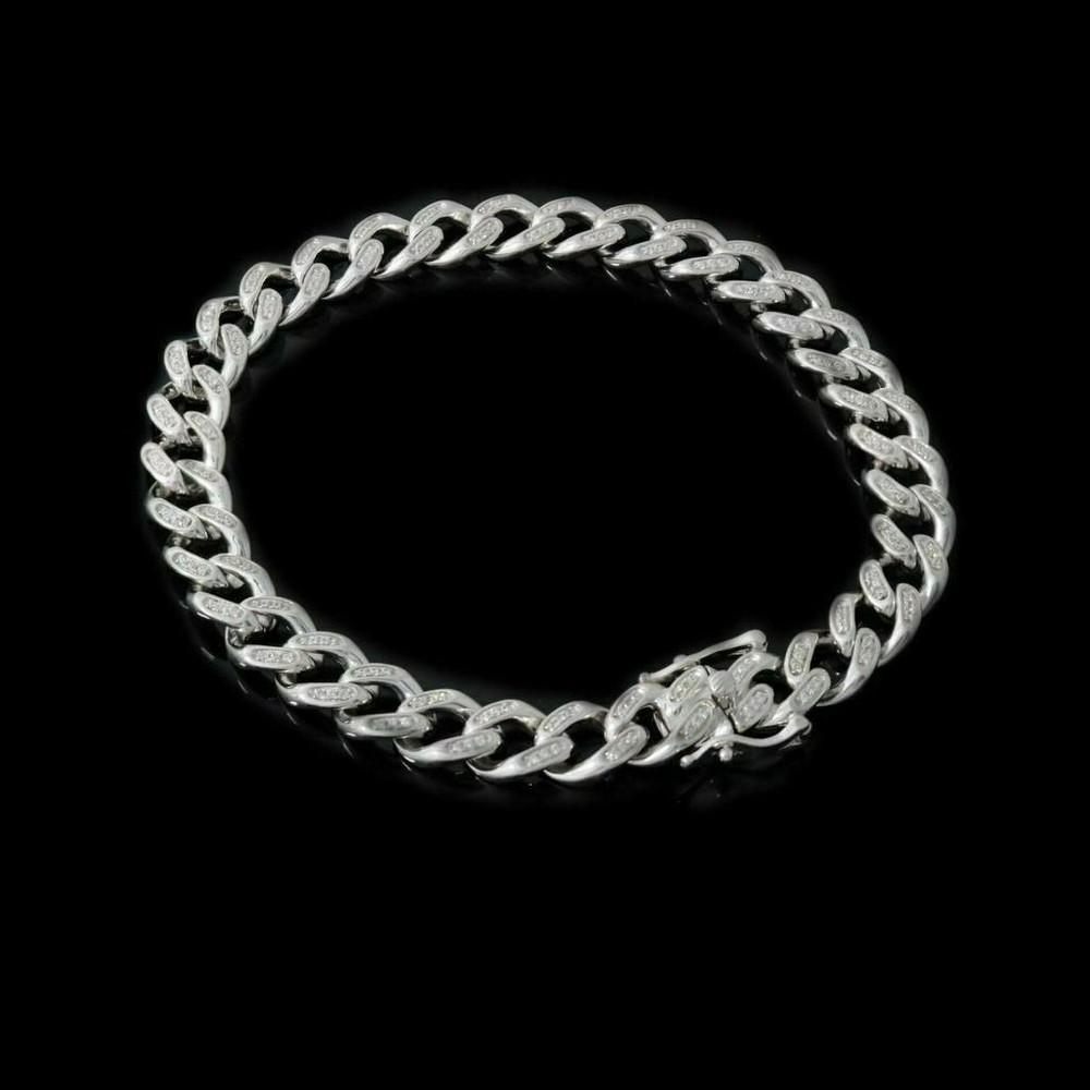 """Men's & Ladies 8.5"""" 2.5ct Miami Cuban Link Bracelet With Solid 925 Sterling Silver"""