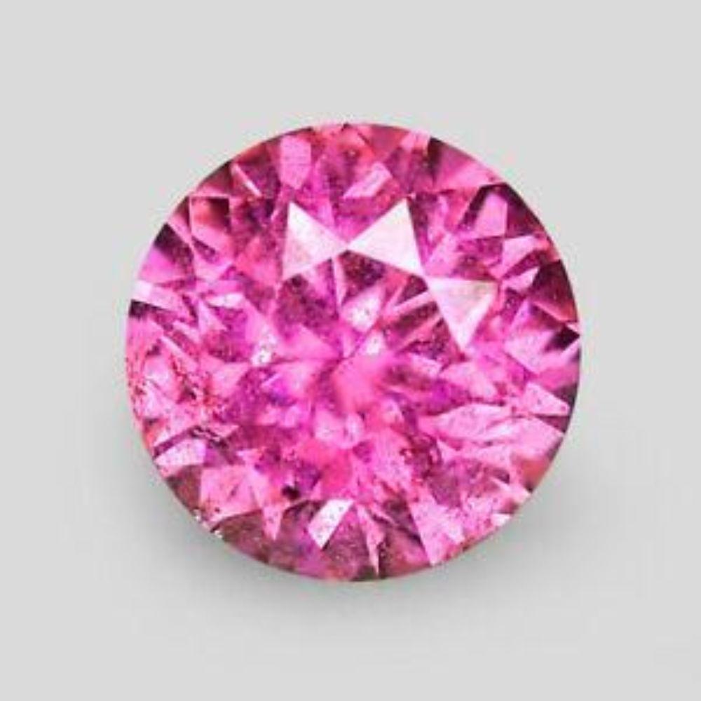 Lot 503: Natural Rare Extra Fine Pink Diamond - Round - (Unheated : Untreated)