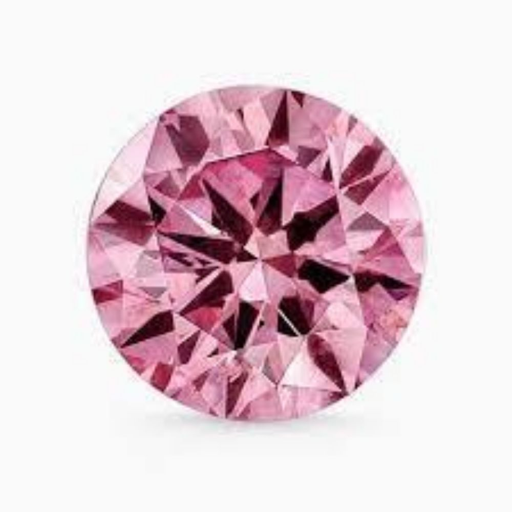 Natural Rare Extra Fine Pink Diamond - Round - (Unheated : Untreated)