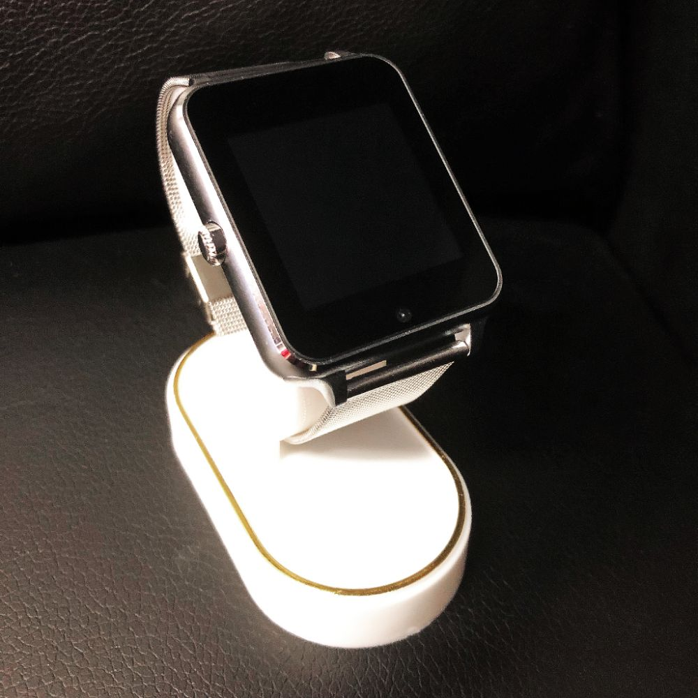 New In Box Silver AI Smart Watch Device With Charger