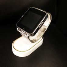 Lot 510: New In Box Silver AI Smart Watch Device With Charger