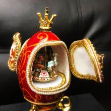 Lot 511: Faberge Merry Go Round Egg A Great Mantle Piece