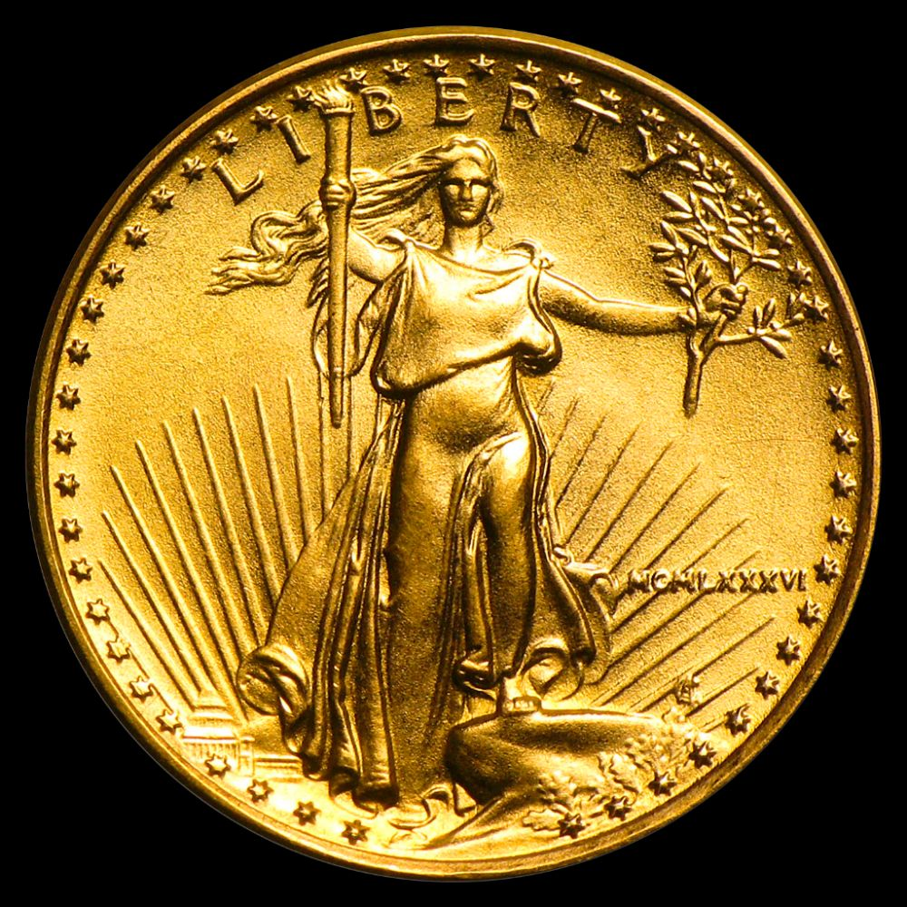 Lot 513: 1986 $5 Gold American Eagle Bullion