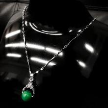 Lot 515: Asian Green Jade Pendant On 925 Silver Necklace