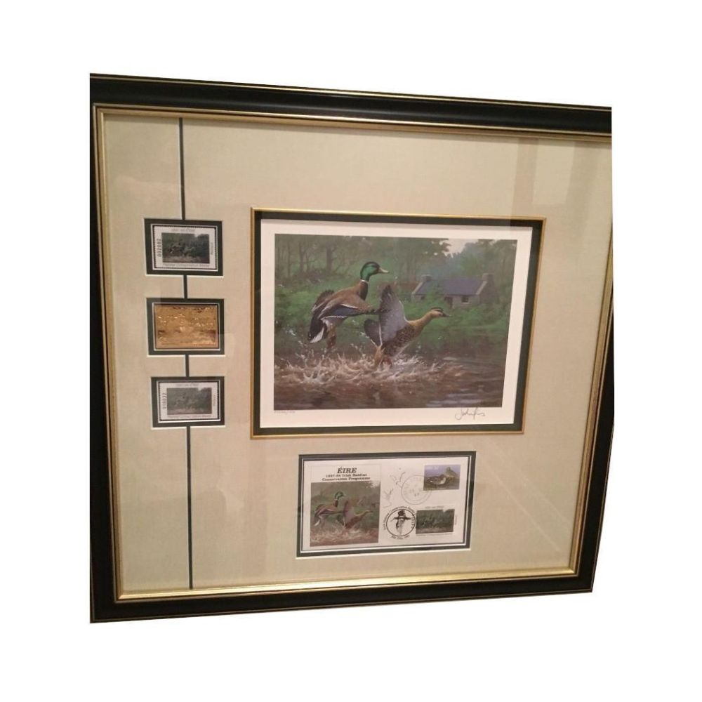 Custom Framed Duck Stamp Commerative Conservation Picture