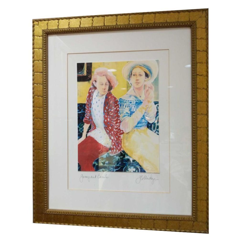 "Signed Print By Collin Keys ""Jenny & Camile"""