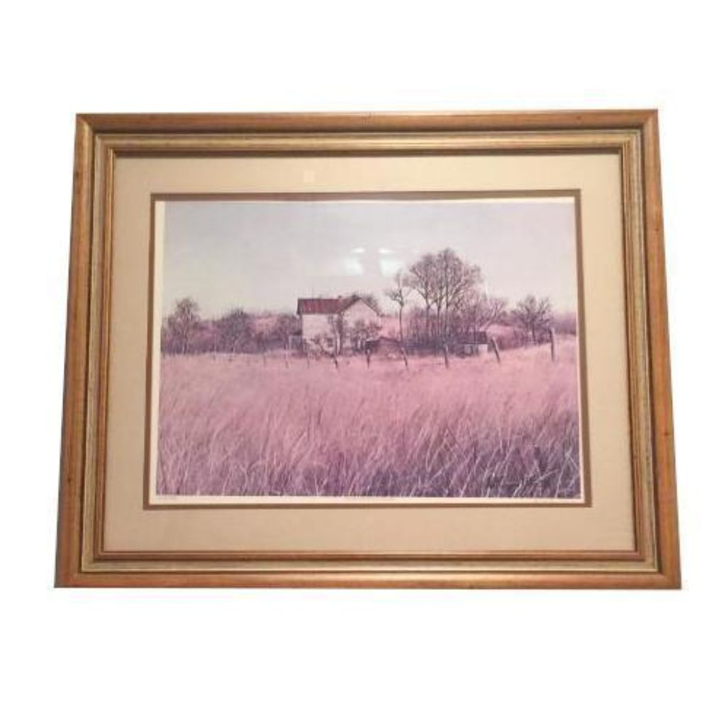 Original Framed Country Barn Scene Signed By The Artist