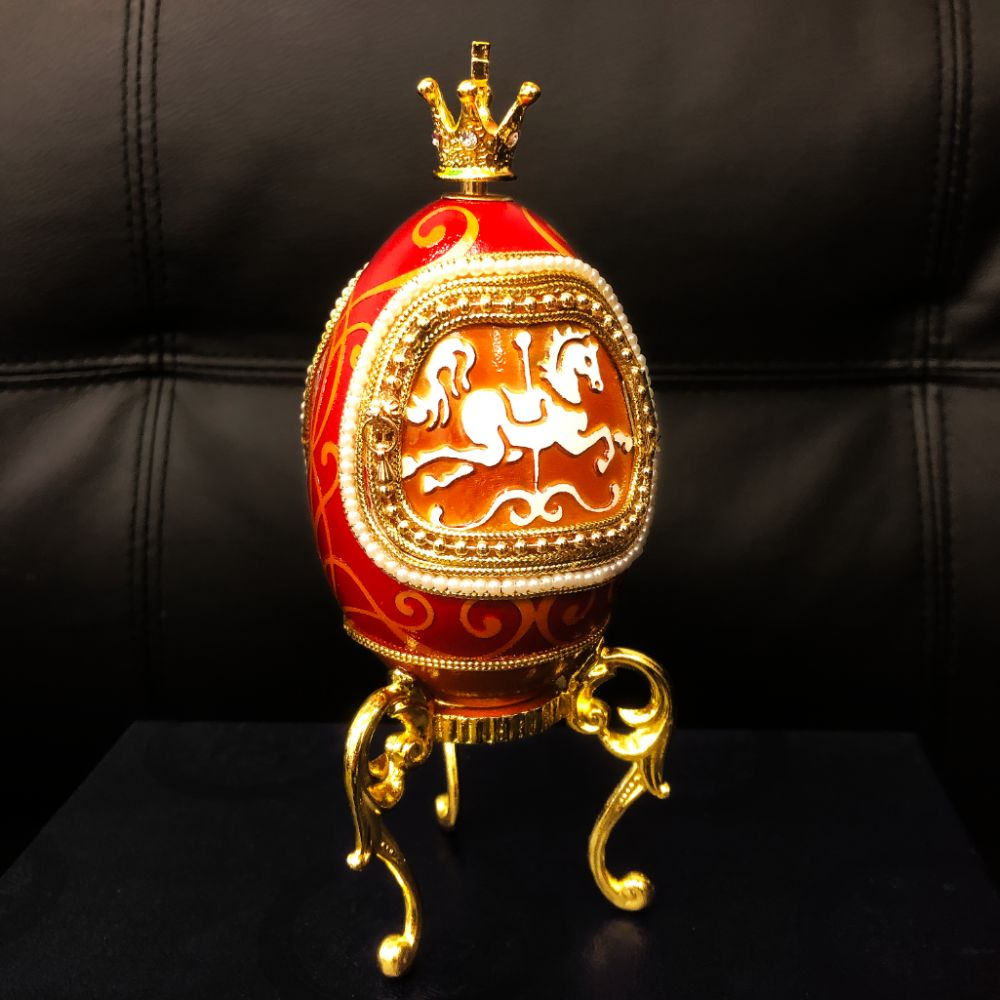 Faberge Merry Go Round Egg A Great Mantle Piece