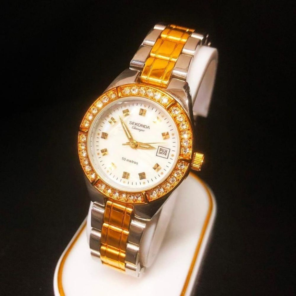 Ladies Gold and Silver Tone Sekonda Classique Wrist Watch
