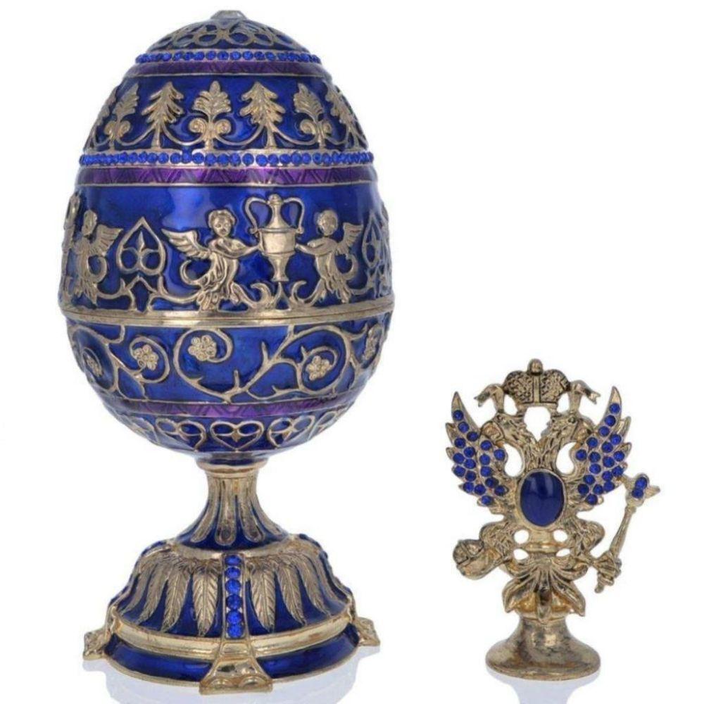 """1912 Tsarevich Faberge Egg 5.5"""""""