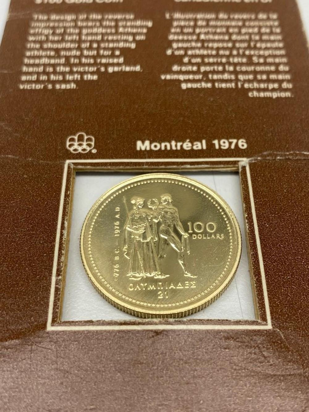 1976 CANADIAN OLYMPIC $100 14K GOLD COIN