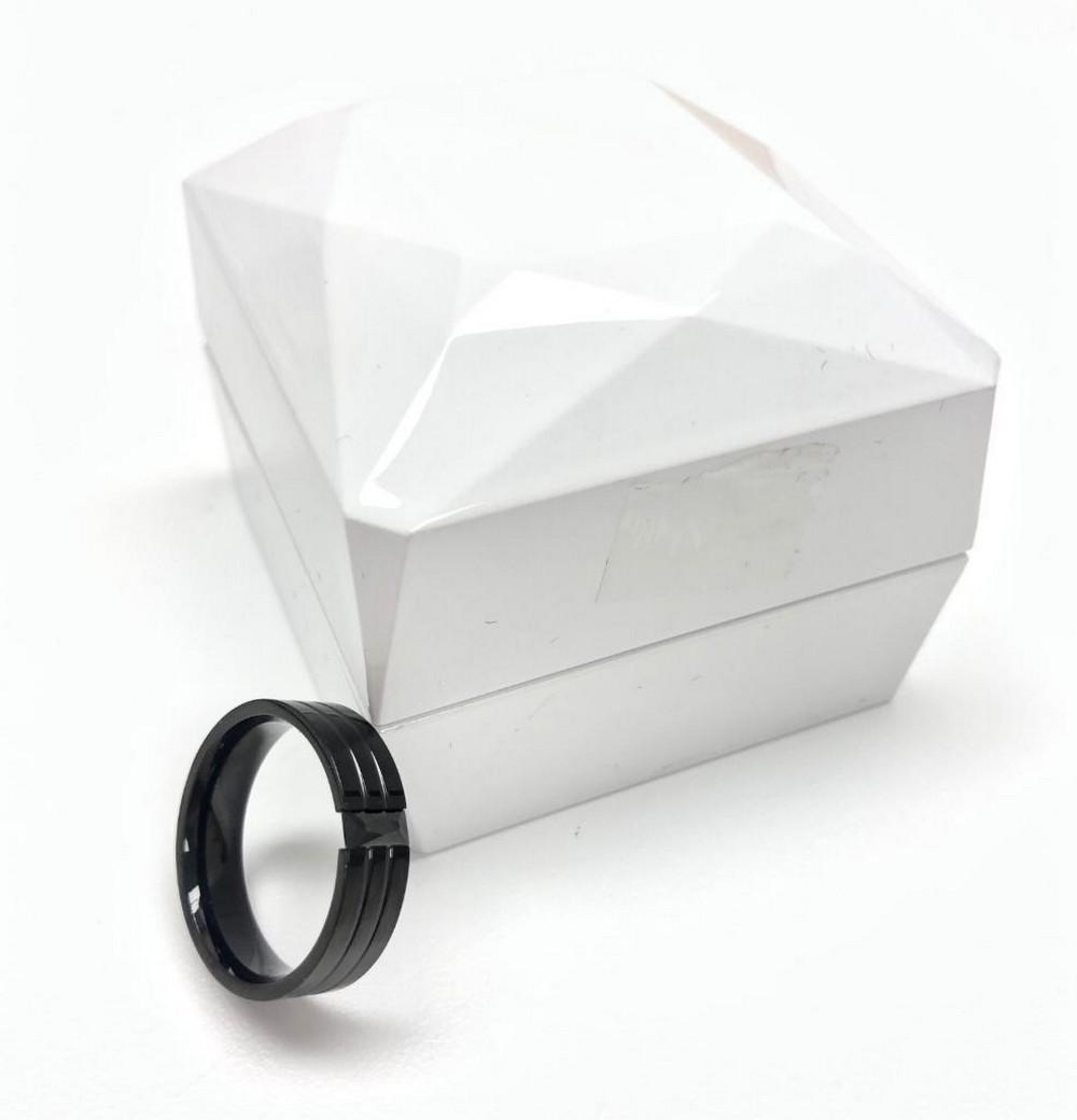 Mens Black Titanium 3 Band Size 10 Ring