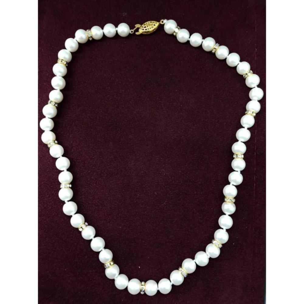 White Akoya Shell Pearl Necklace 49 Pearls