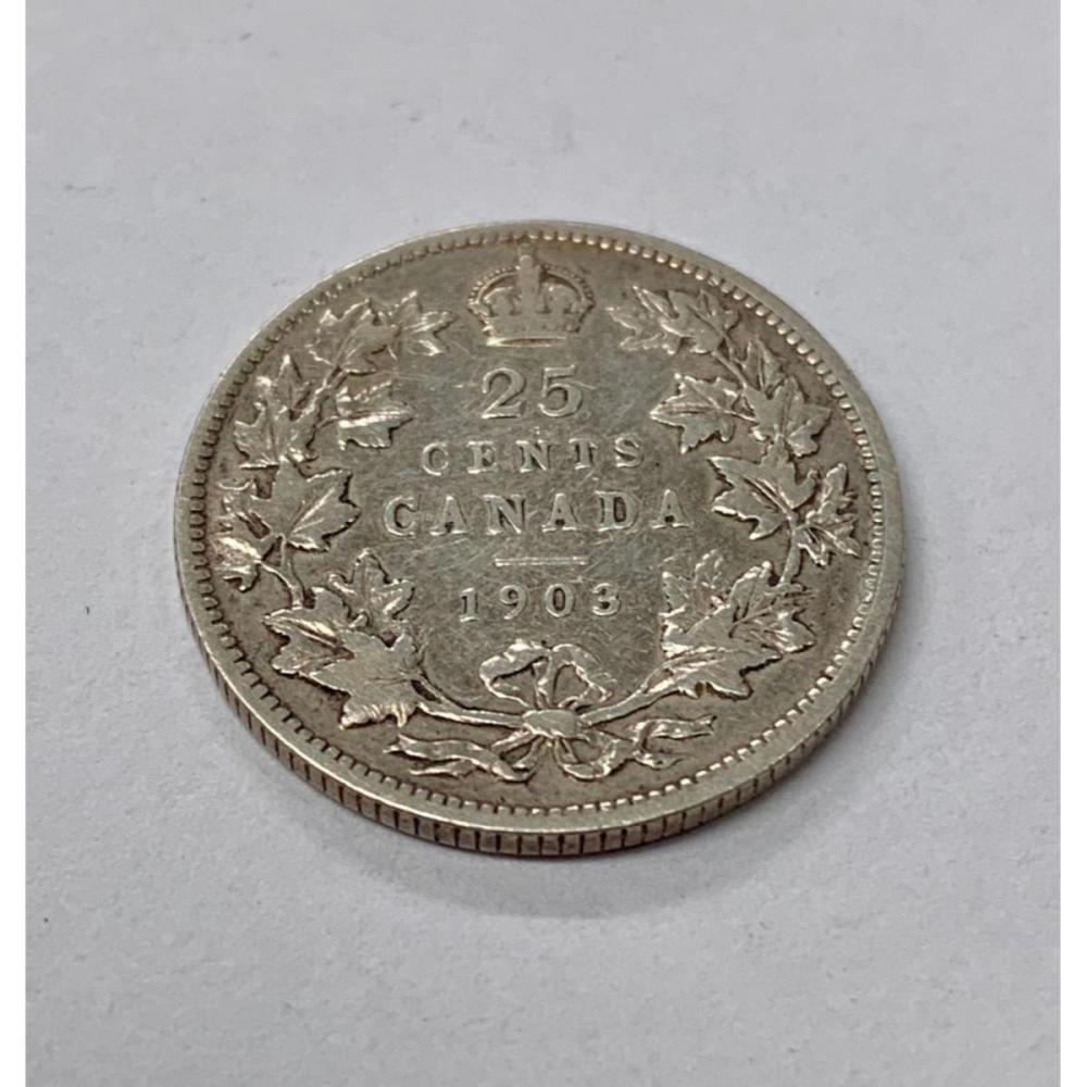 1903 Canadian 25 Cent Coin