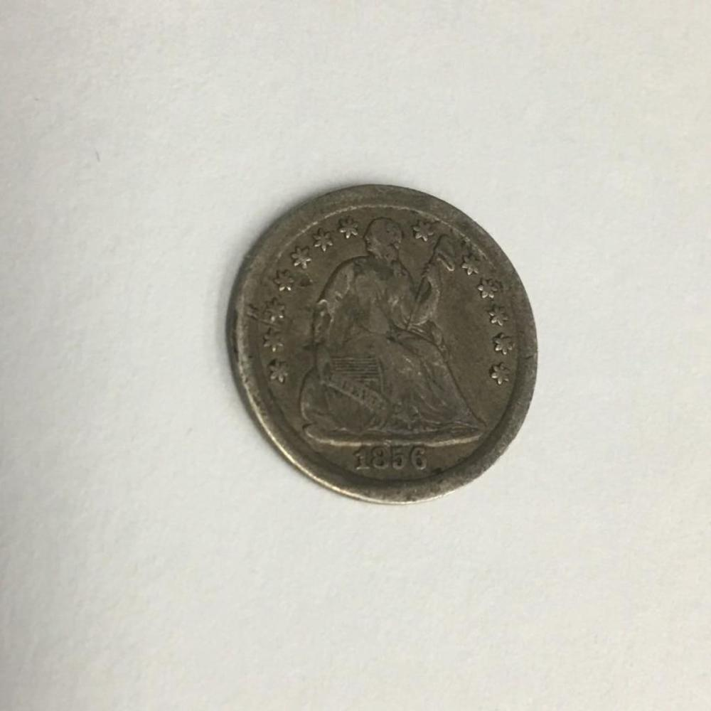 1856 Seated Liberty Silver Half Dime Collectible