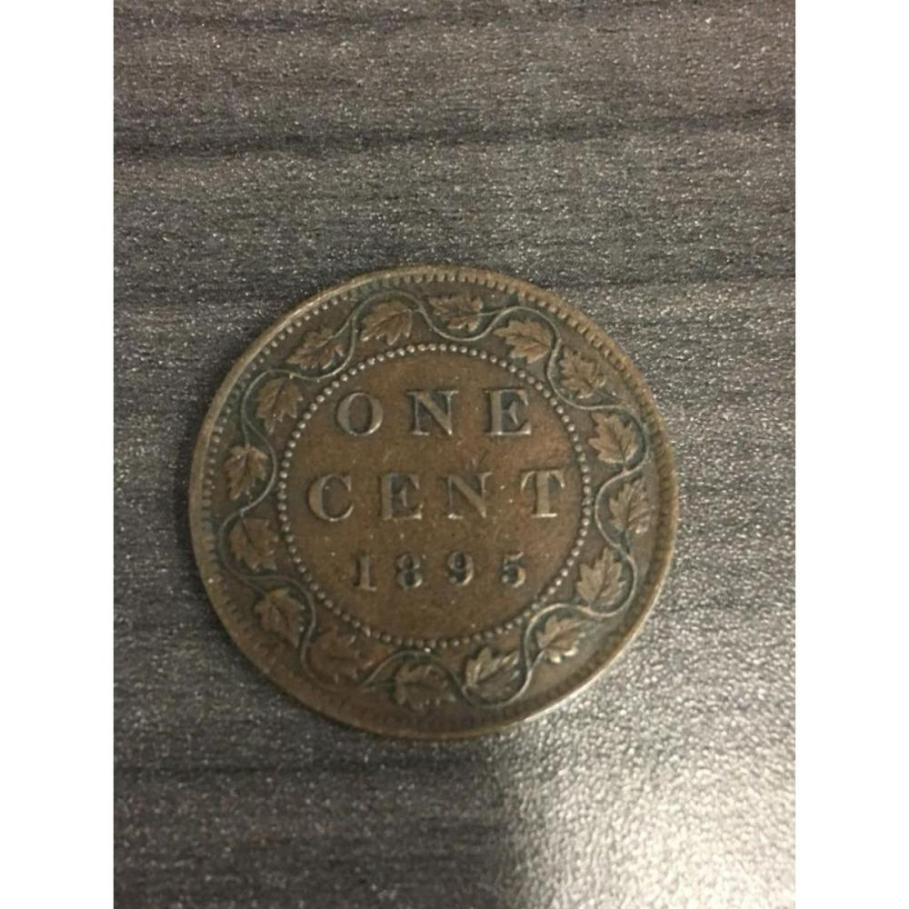 1895 Canadian VF One Cent Coin