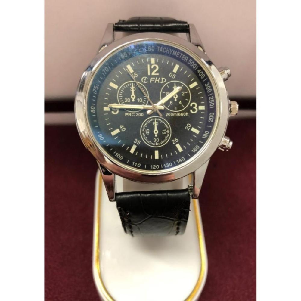 Silver Tone FHD Mens Wrist Watch