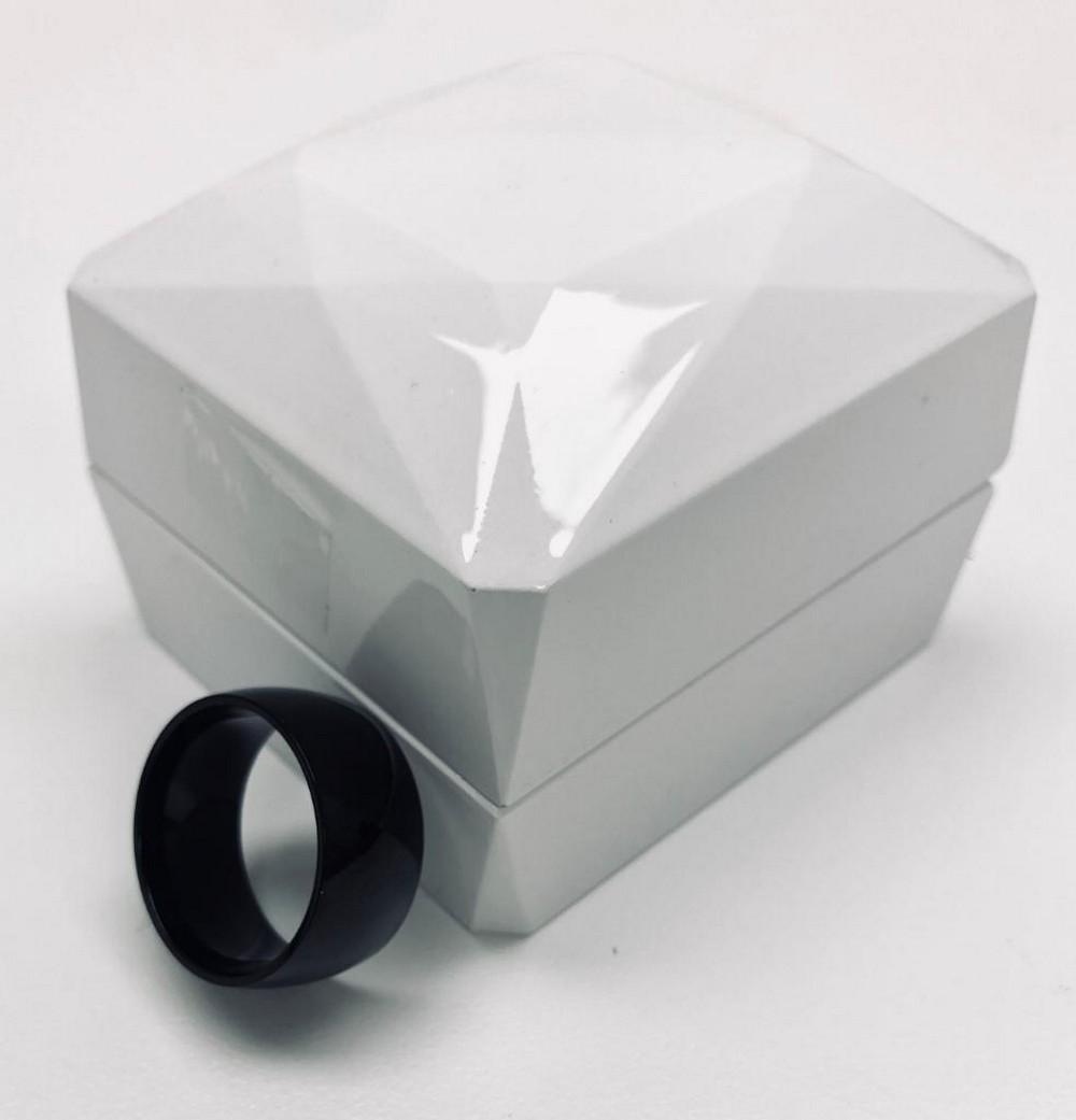 Pure Black Titanium Size 10 Mens Ring