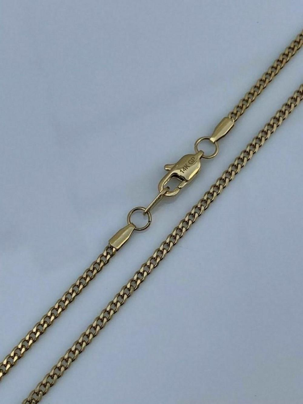 Men's Gold Miami Cuban Link Chain 3mm 14k Gold Over