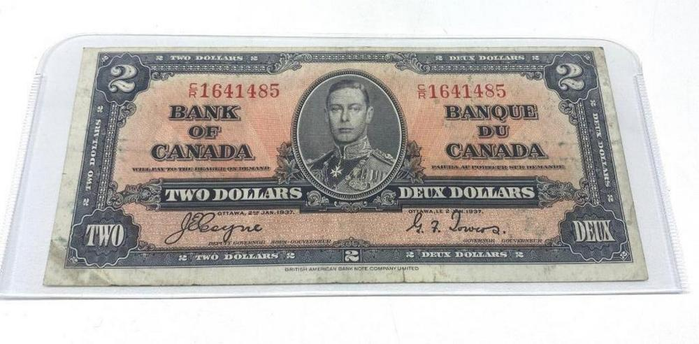 1937 Bank Of Canada $2 Bank Note - CR1641485