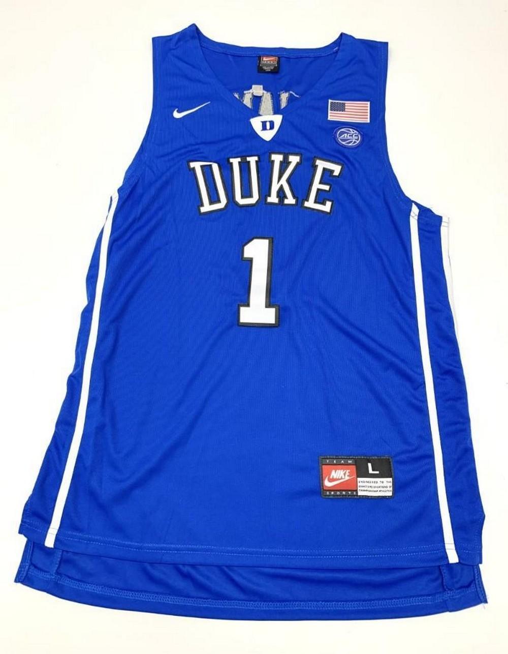 Authentic Zion Williamson #1 Duke University Home Jersey